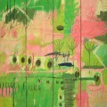 Moka Jungle, 1997. Oil on carboard, wood, 205 x 165,5 cm, 80 3/4 x 65 1/8 inches