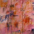 Pink O'Clock, 1997. Oil on cardboard, wood, 184,5 x 170,5, 72 5/8 x 67 1/8 inches