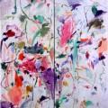 Invention à deux voix (Voyage dans l'hiver), 2002. Oil on cardboard, wood, 131,5 x 114,5 cm, 51 3/4 x 45 inches
