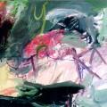 Petits bonheurs #2 (Alpes - Roses - Décembre etc), 2004. Oil on canvas, 46 x 65 cm, 18 1/8 x 25 5/8 inches