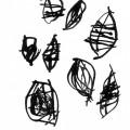 Au sud de nulle part #25, 2011. Indian ink on paper, 14,2 x 10 cm, 5 5/8 x 3 7/8 inches