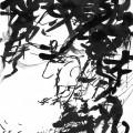 Au sud de nulle part #44, 2011. Indian ink on paper, 20,1 x 15,9 cm, 7 7/8 x 6 1/4 inches